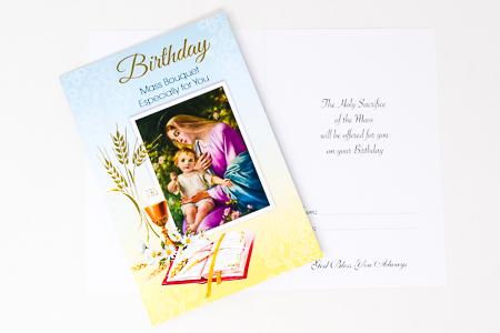 Birthday Mass Bouquet Card.