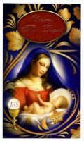 Mary with Baby Jesus Christmas Mass Bouquet Card.