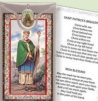 Prayer Card & Medal - St. Patrick.