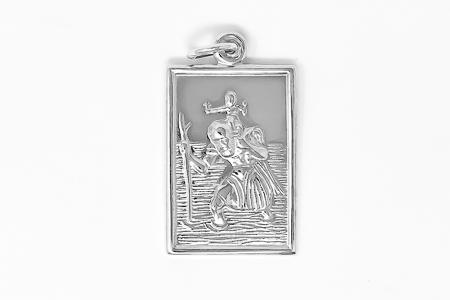 Men's St. Christopher Medal 925.