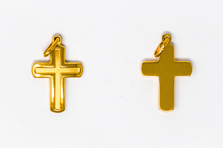 Men's Gold Cross Pendant.