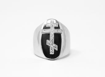 Mens St Joseph Sterling Silver Ring.