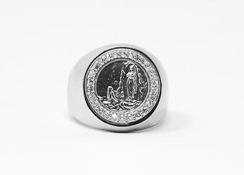 Men's Silver Lourdes Ring.