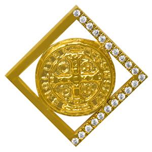 Men's Gold St Benedict Pendant.