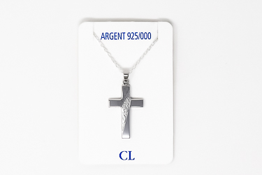 925 Sterling Silver Cross Necklace.