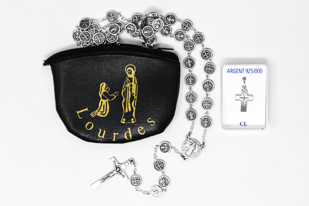 Mens Rosary & Cross Gift Set.