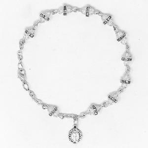 Miraculous Crystal Rosary Bracelet.