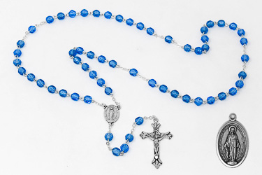 Miraculous Rosary Set with Medal.