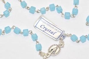 Aqua Rosary Necklace