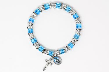 Miraculous Blue Crystal Bracelet.