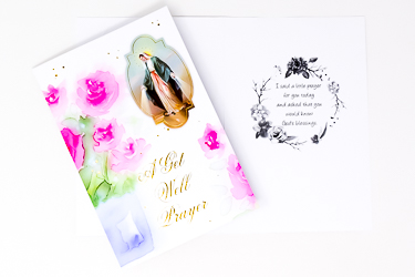 Miraculous Get Well Prayer Card.