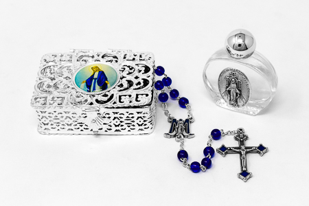 Miraculous Lourdes Water Rosary Gift Set.