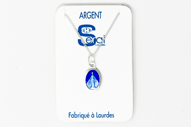 French Miraculous Medal Necklace.