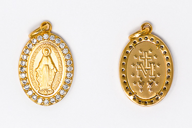 Miraculous Medal Gold Plated.