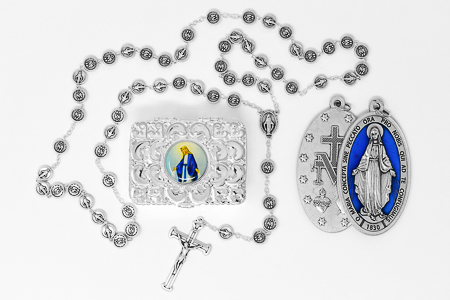 Miraculous Medal Rosary Gift Set.