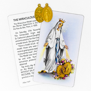 Miraculous Medal with Prayer Card.