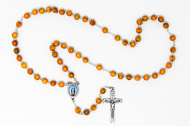 Olive Wood Rosary Beads.