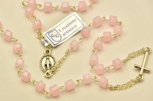 Rose Rosary Necklace