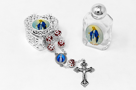 Miraculous Glass Rosary Gift Set.