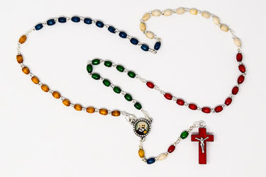 Missionary St. Pio Wooden Rosary.