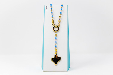 Modern Crystal Rosary�Necklace.