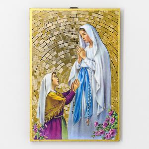 Mosaic Wall Plaque Lourdes Apparition.