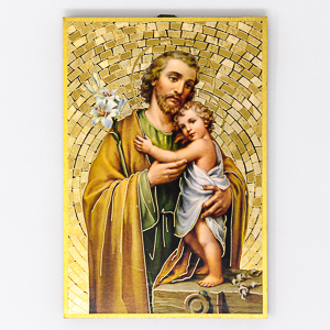 St Joseph Mosaic Wall Plaque.