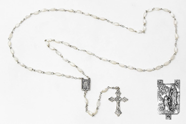Mother of Pearl Rosary Beads.