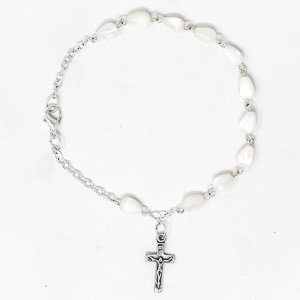 Mother of Pearl Rosary Bracelet.