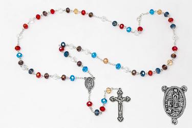 Multicolour Crystal Bernadette Rosary.