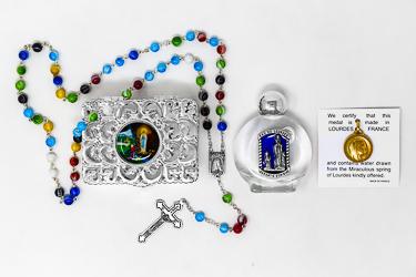 Lourdes Munrano Rosary Gift Set.