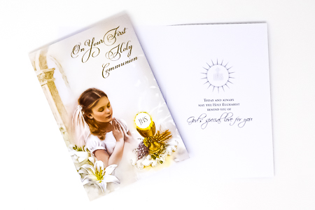 Girl's Holy Communion Card.