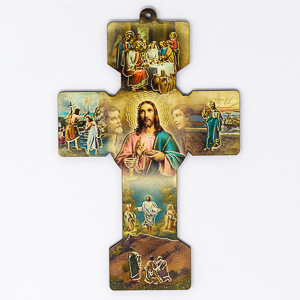 Mysteries of Light Wooden Wall Cross.