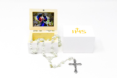 Mary Untier of Knots Nickel Free Rosary Beads.