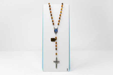 Miraculous Olive Wood Rosary Beads.