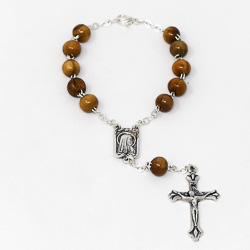 Olive Wood Car Rosary Beads.