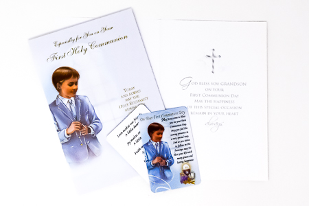 Communion Card for a Boy.