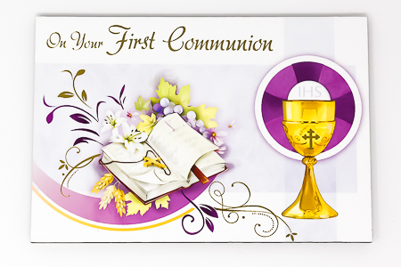 Communion Chalice Wood Post A Plaque .