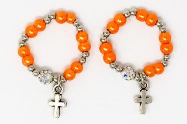 Orange Rosary Ring.