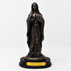 Our Lady of Lourdes Bronze Art Statue.