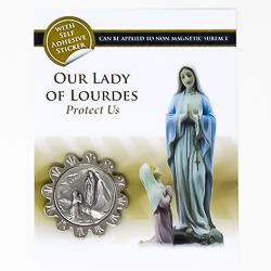 Our Lady of Lourdes Car Plaque.