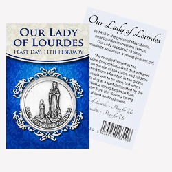Our Lady of Lourdes Pocket Token.