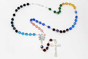 Our Lady of Lourdes Rosary Beads.