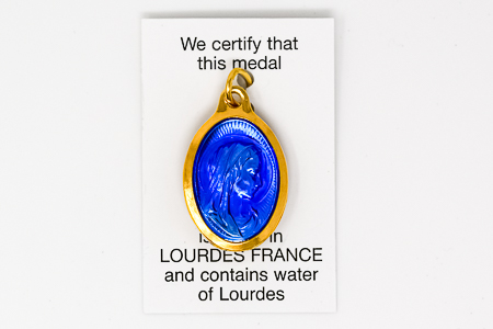 Gold Virgin Mary  water Pendant  comes with a Certified Certificate