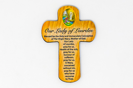 Our Lady of Lourdes Pocket Cross.