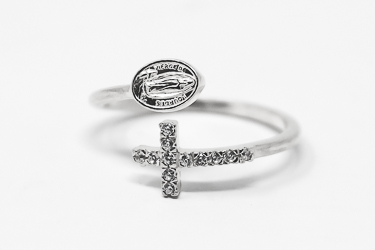 Our Lady of lourdes Ring.