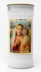 Our Lady of the Rosary Candle.
