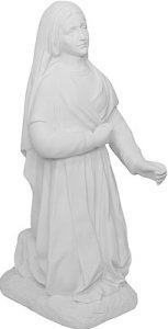 Composite Marble Bernadette Graveyard Statue.