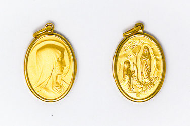 Oval Lourdes Apparition Medal.