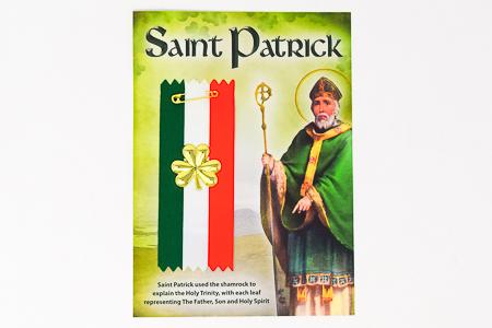 Saint Patrick Shamrock Badge.